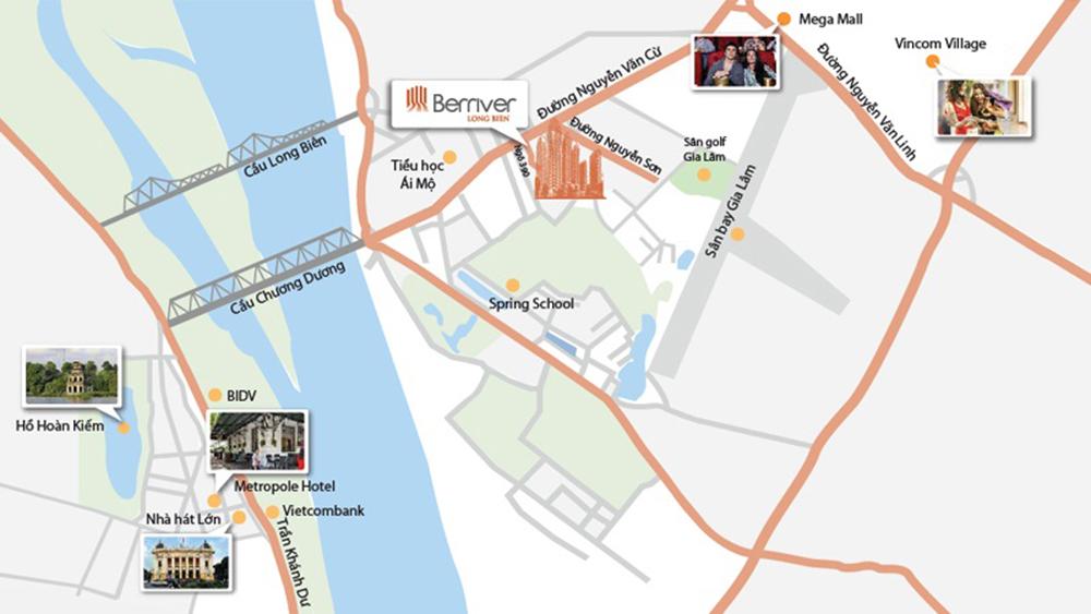 vị trí chung cư berriver no2 long biên