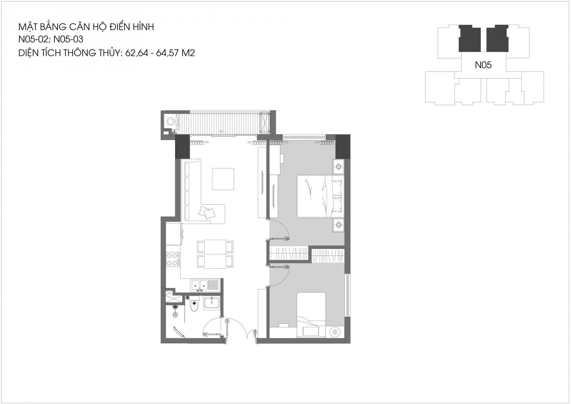 2 Phòng ngủ Berriver NO5