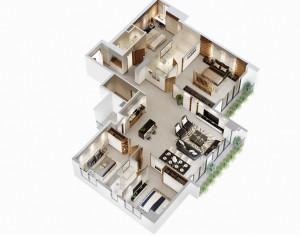 Căn 4 Phòng ngủ 180m2 Berriver Jardin